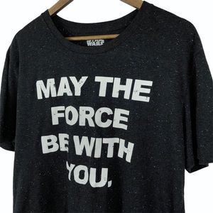 Star Wars May The Force Be With You Gray Shirt 2XL